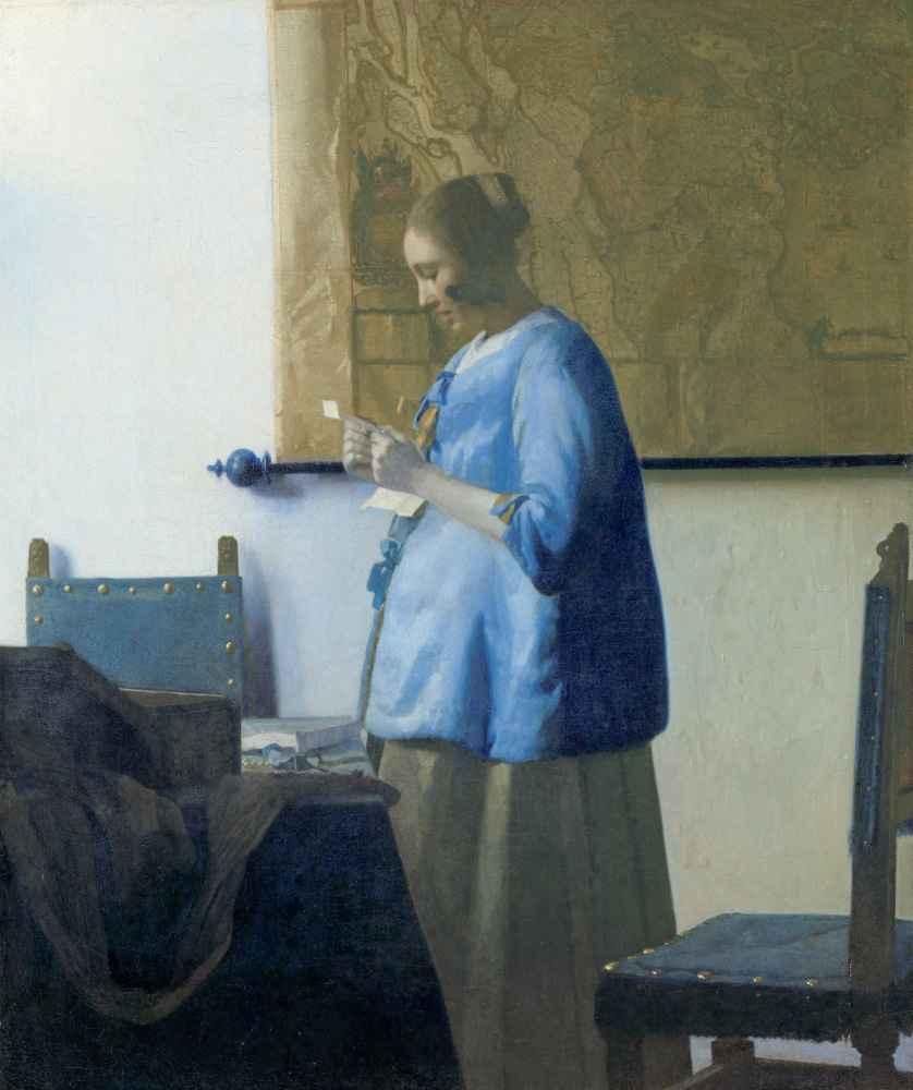 Woman Reading a Letter - Jan Vermeer