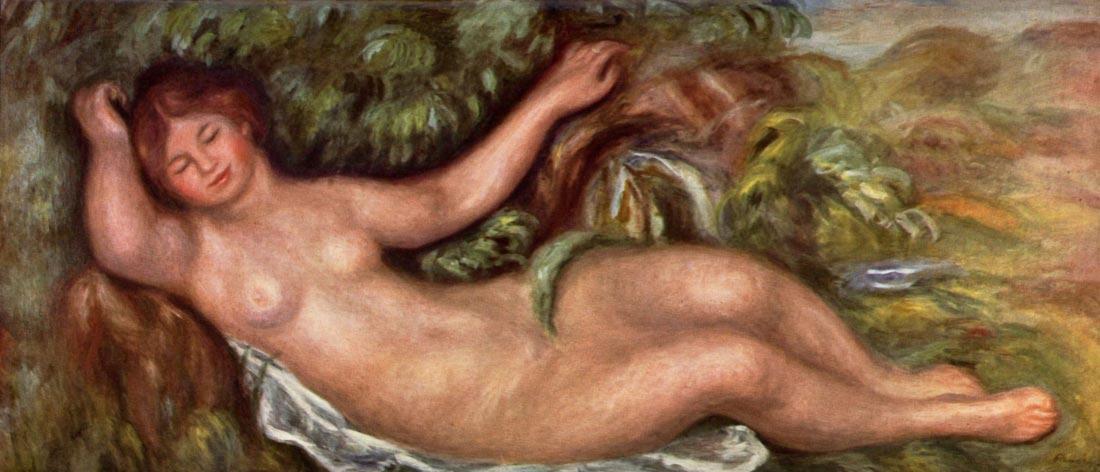 Woman Reclining - Renoir
