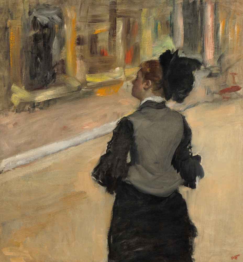 Woman Viewed from Behind (Visit to a Museum) - Edgar Degas