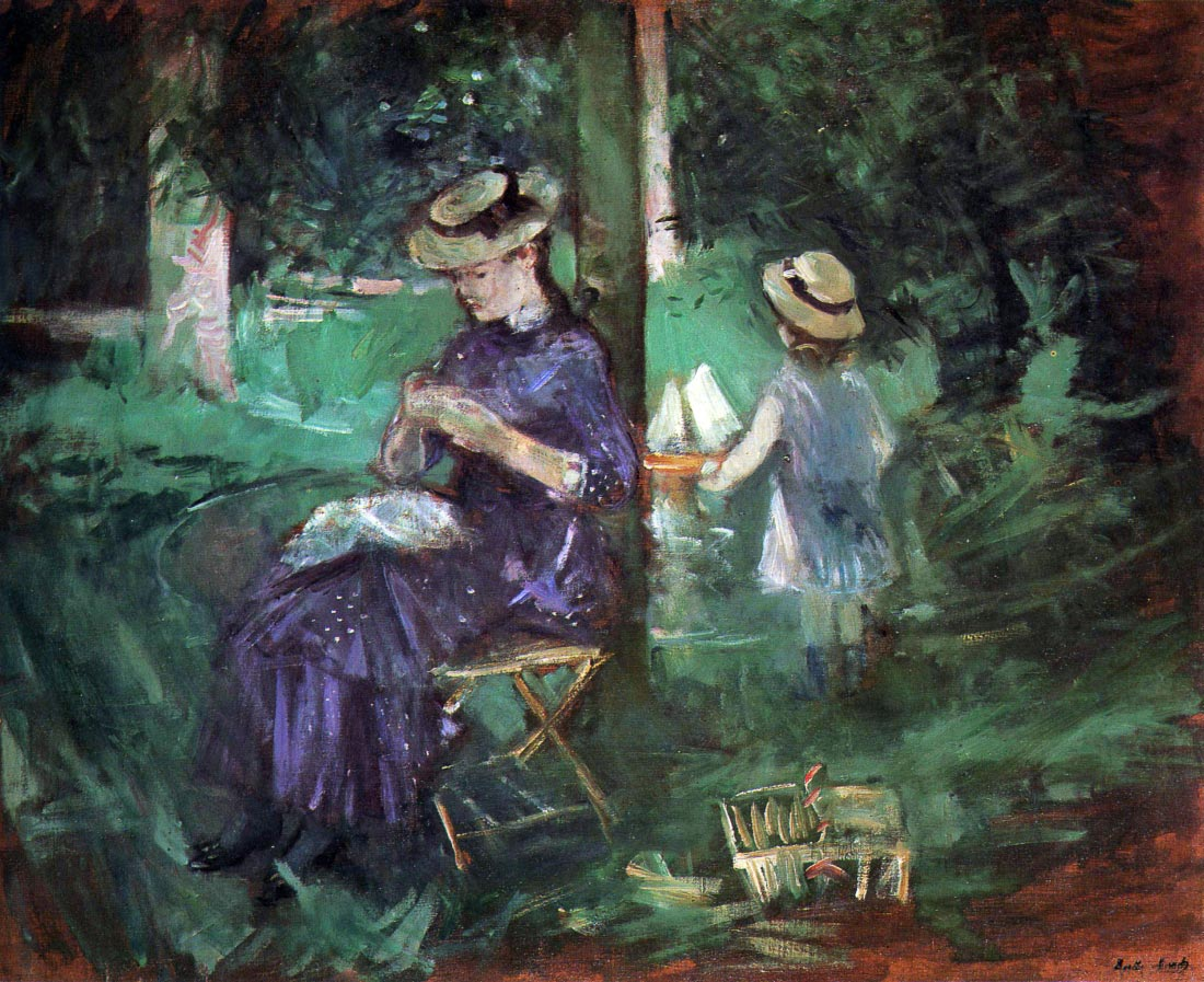 Woman and child in Garden - Morisot