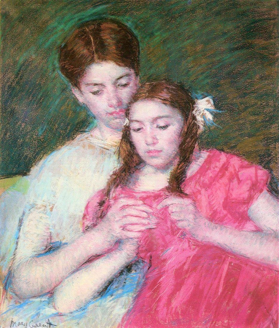 Woman and girl - Cassatt