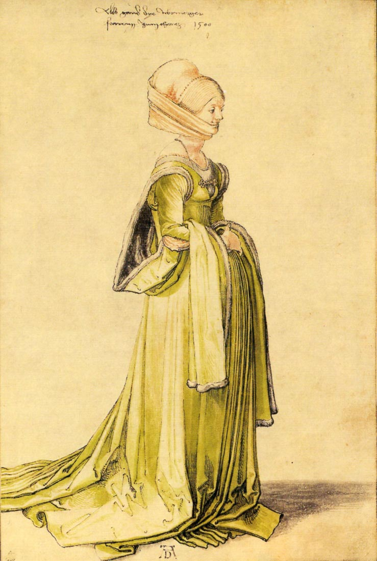 Woman dressed up - Durer