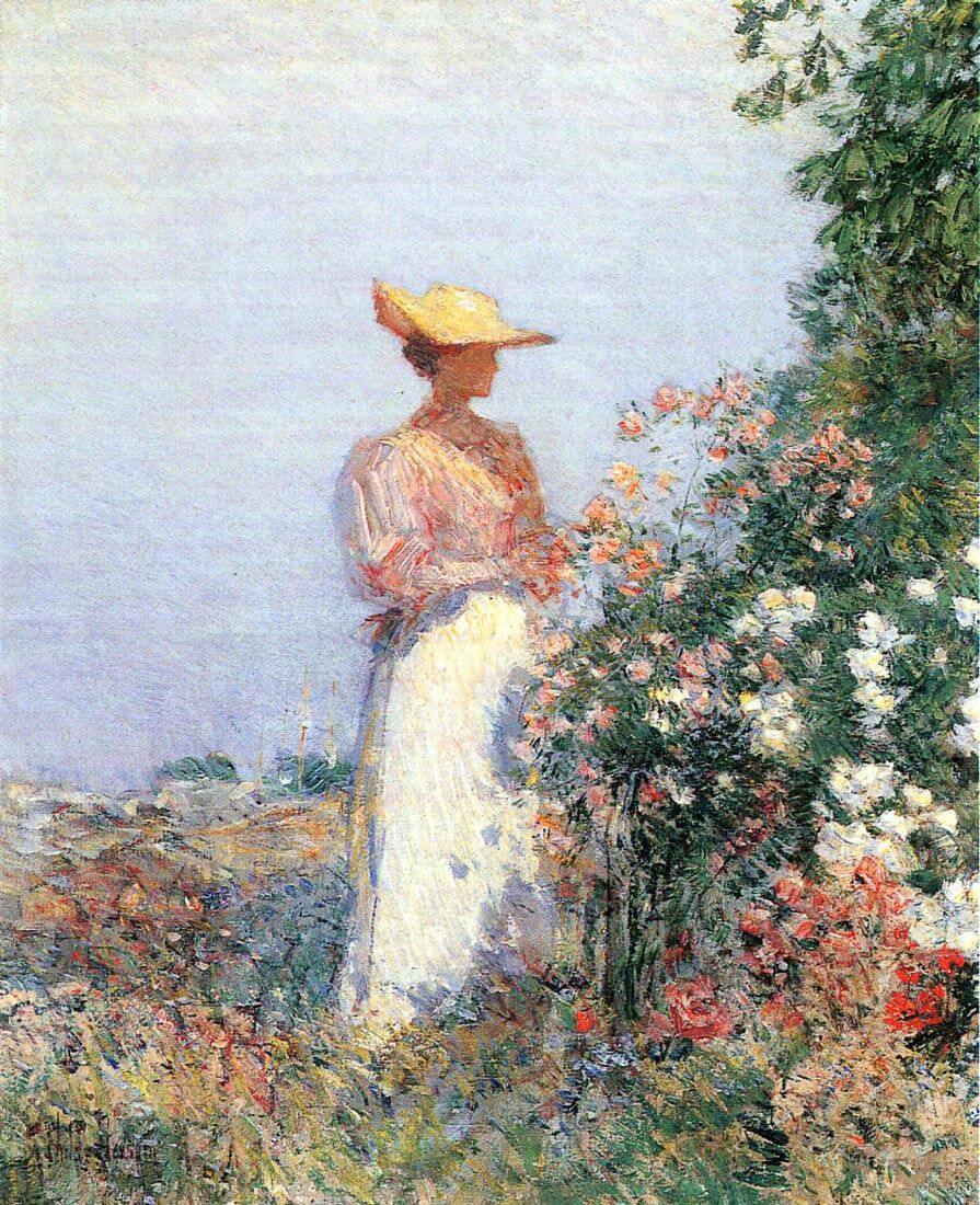 Woman in Garden - Hassam