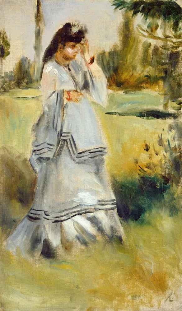 Woman in a Park - Auguste Renoir