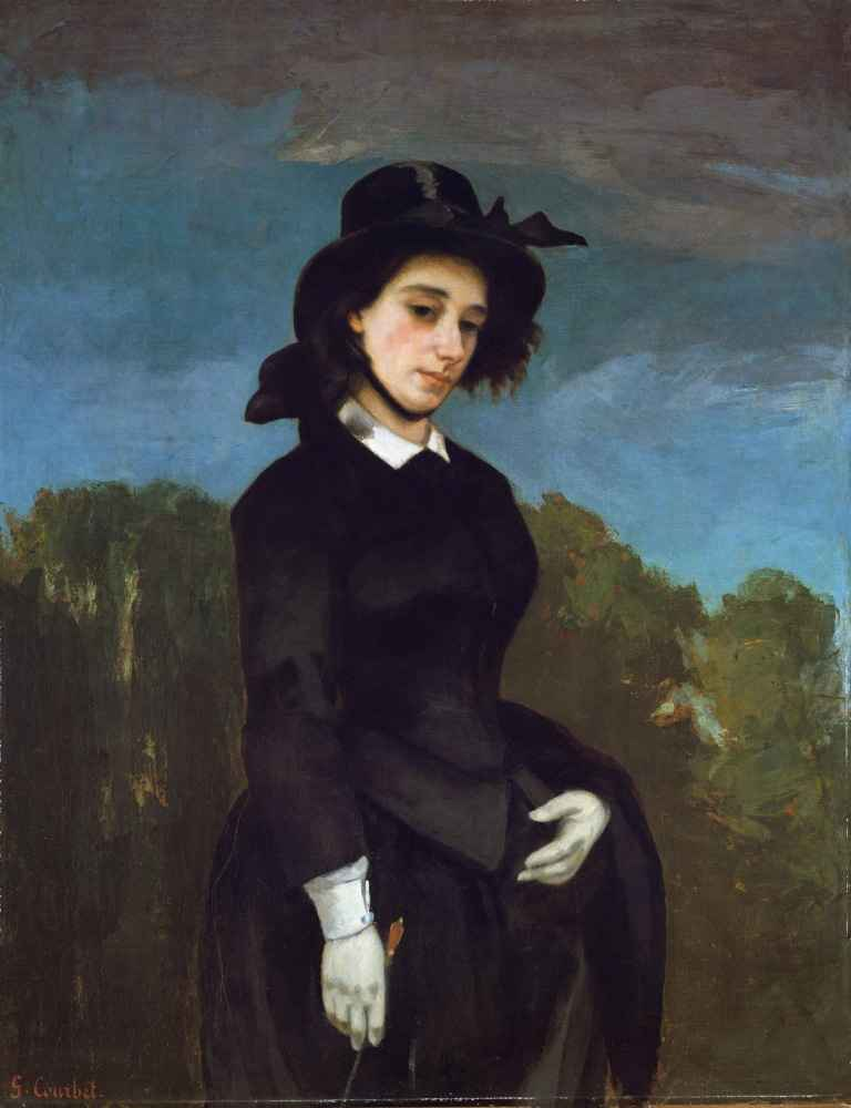 Woman in a Riding Habit (Amazonka) - Gustave Courbet