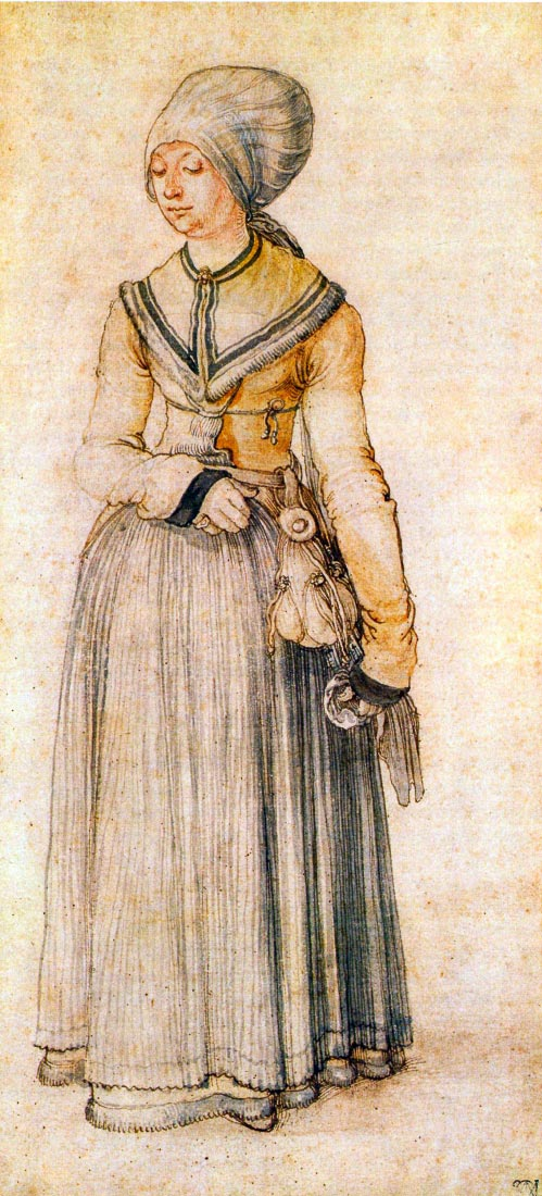 Woman in house dress - Durer