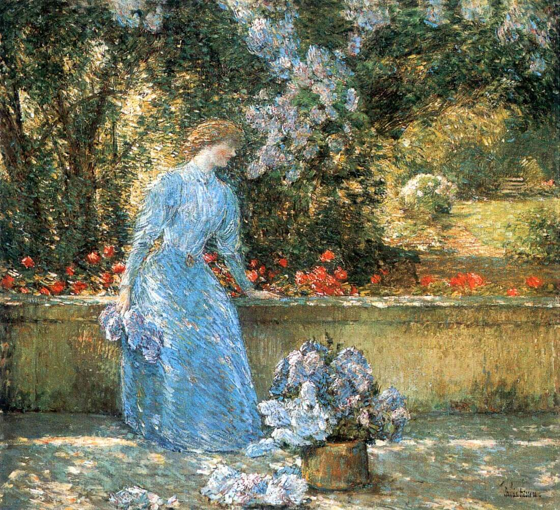 Woman in park - Hassam