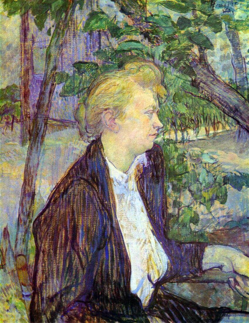 Woman in the Garden - Toulouse-Lautrec