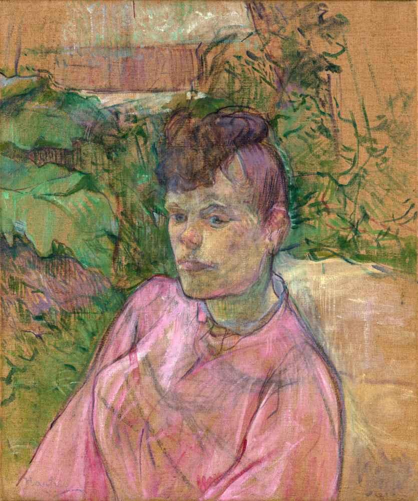 Woman in the Garden of Monsieur Forest - Henri de Toulouse-Lautrec