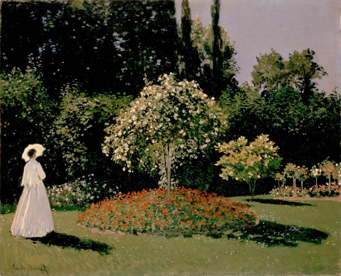 Woman in the garden - Monet