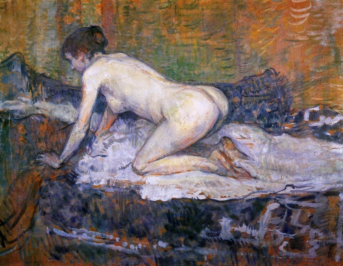 Woman naked - Toulouse-Lautrec