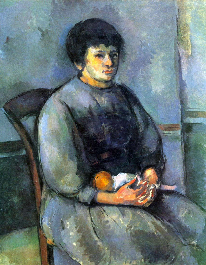 Woman with Doll - Cezanne