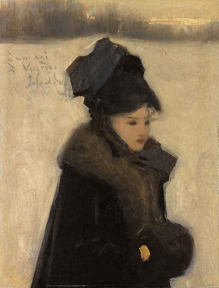 Woman with Furs - John Singer Sargent