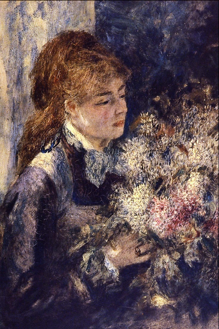 Woman with Lilacs - Renoir