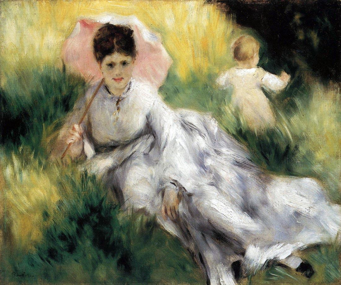 Woman with Parasol - Renoir
