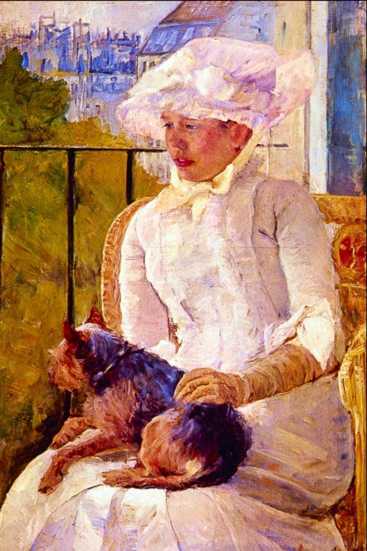 Woman with a Dog - Cassatt