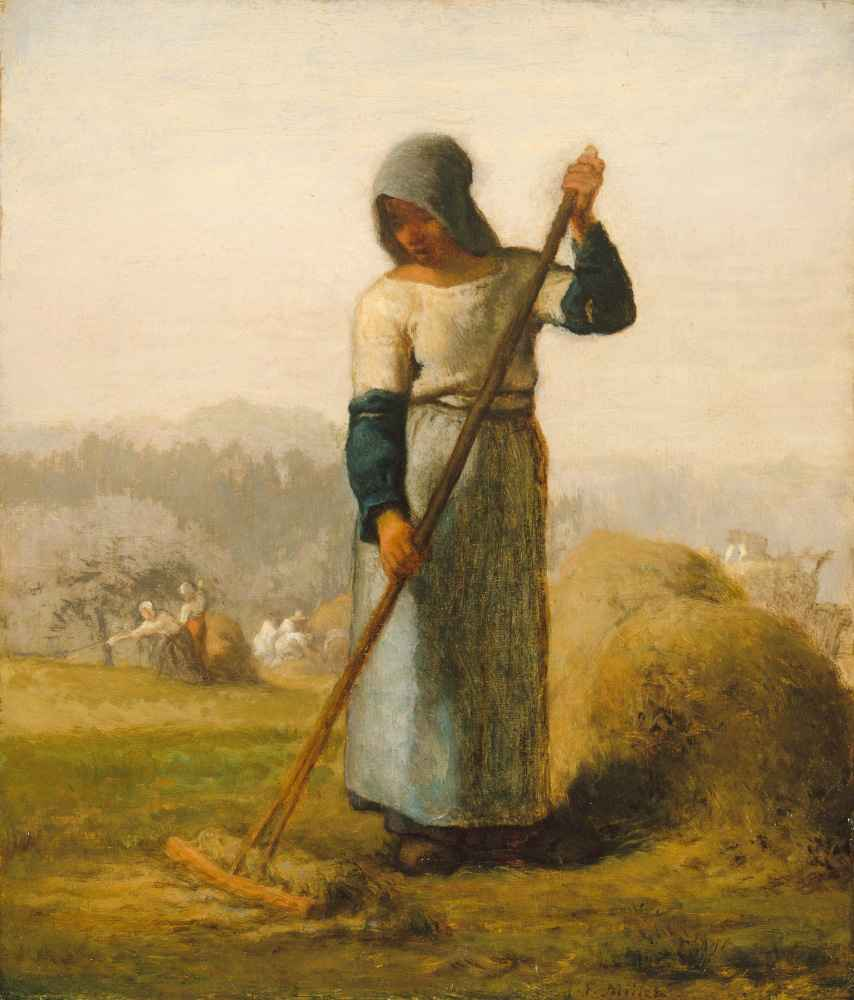 Woman with a Rake - Jean Francois Millet