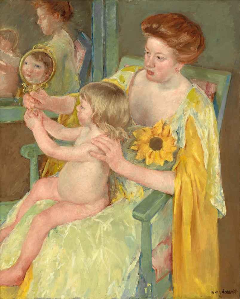 Woman with a Sunflower - Mary Cassatt