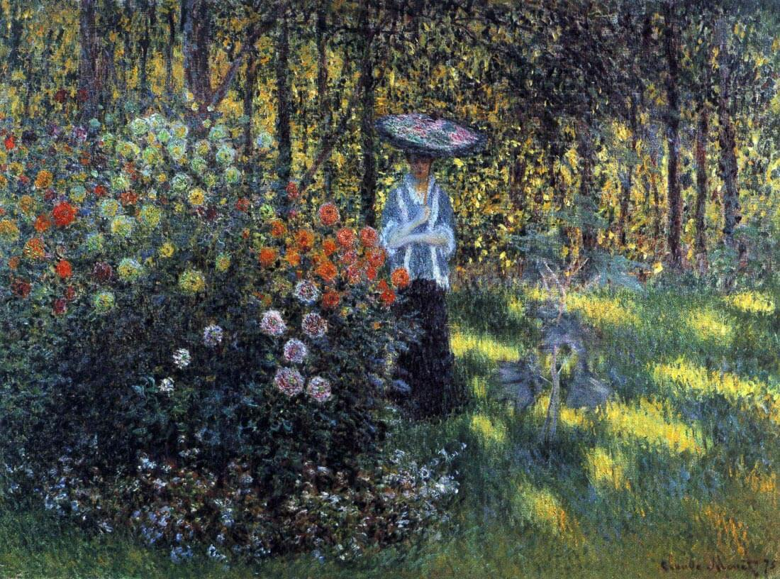Woman with a parasol in the garden of Argenteuil - Monet