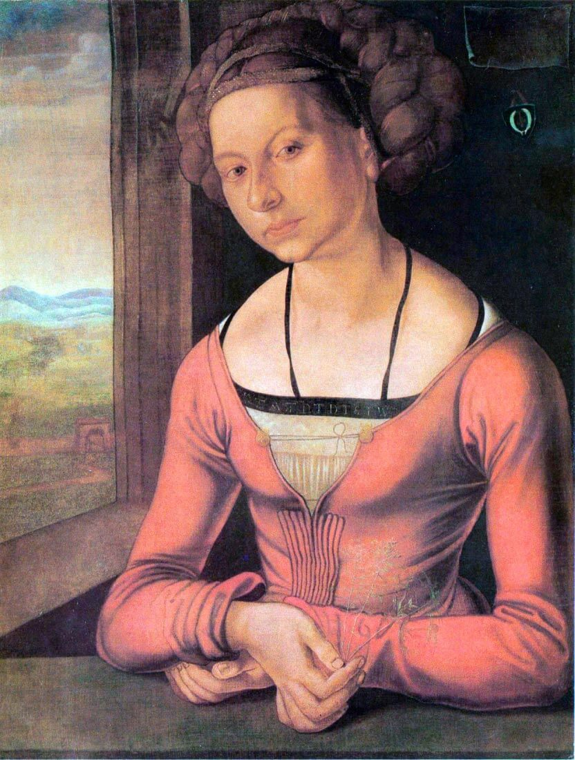 Woman with braided hair - Durer