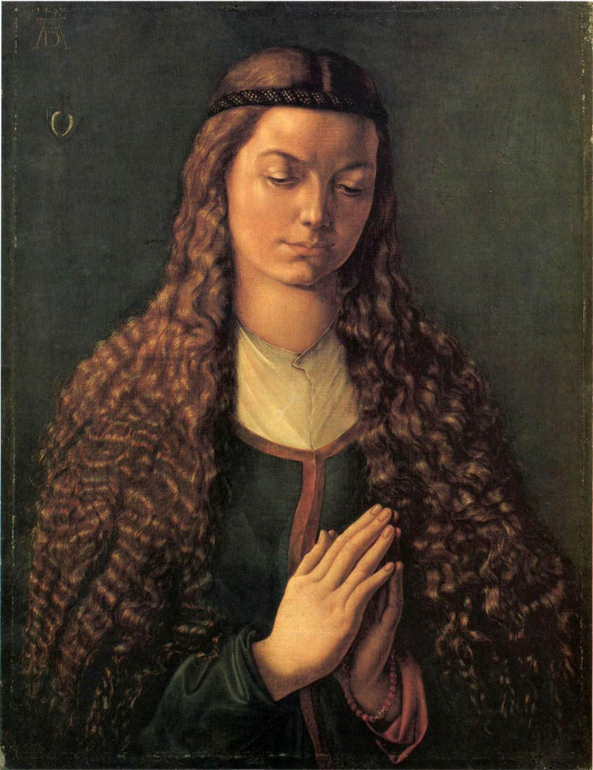 Woman with curly hair - Durer