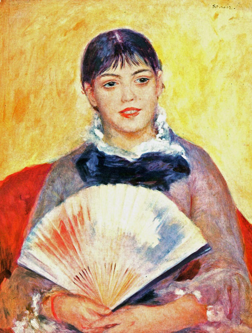 Woman with fan - Renoir