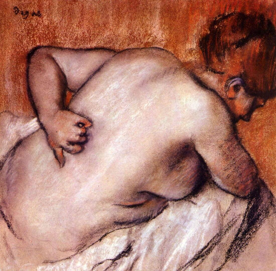 Womans back - Degas