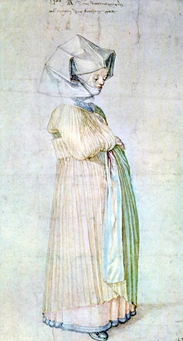 Womans dress in church - Durer