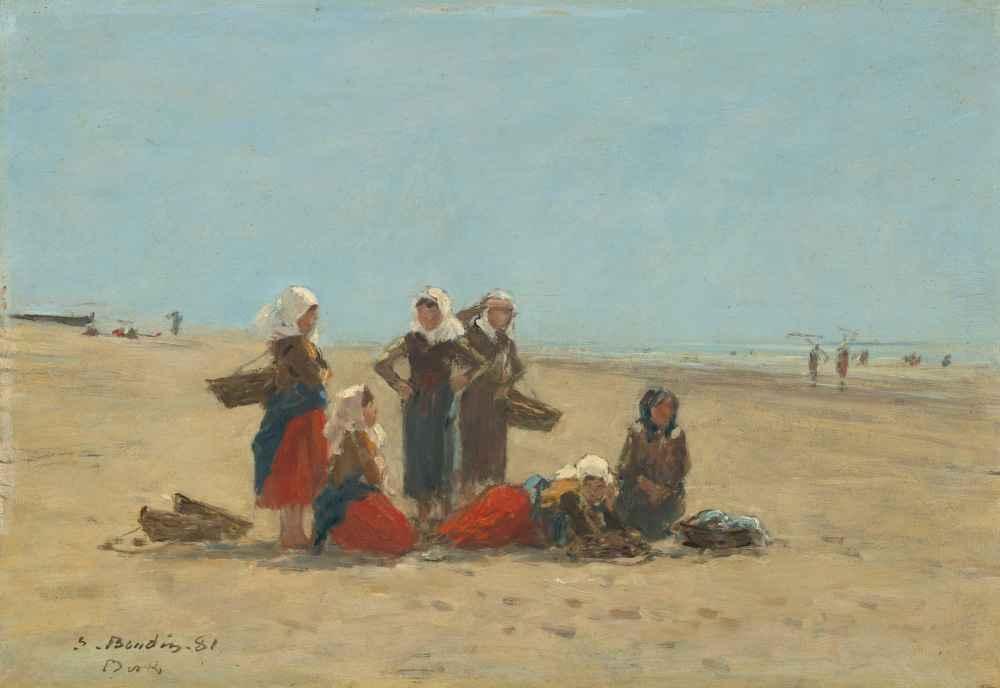 Women on the Beach at Berck - Eugene Boudin