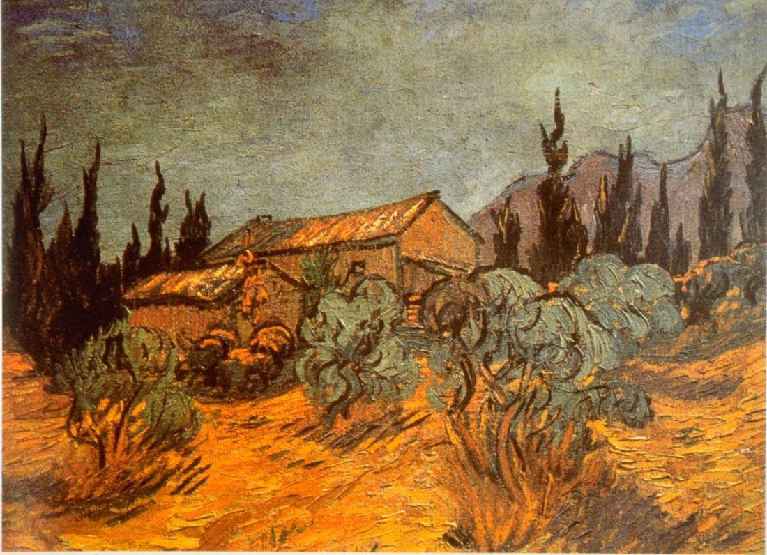 Wooden Sheds - Van Gogh