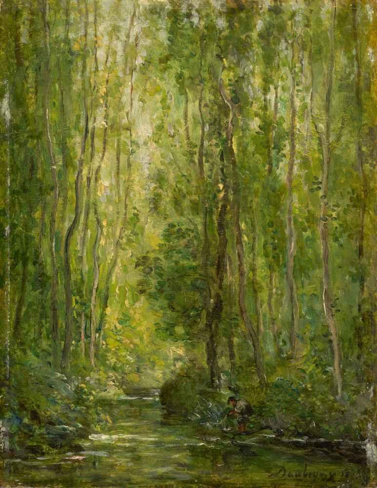 Woodland Scene - Charles-Francois Daubigny