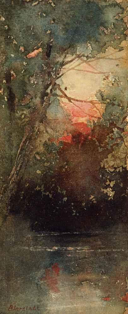 Woodland Sunset - Albert Bierstadt