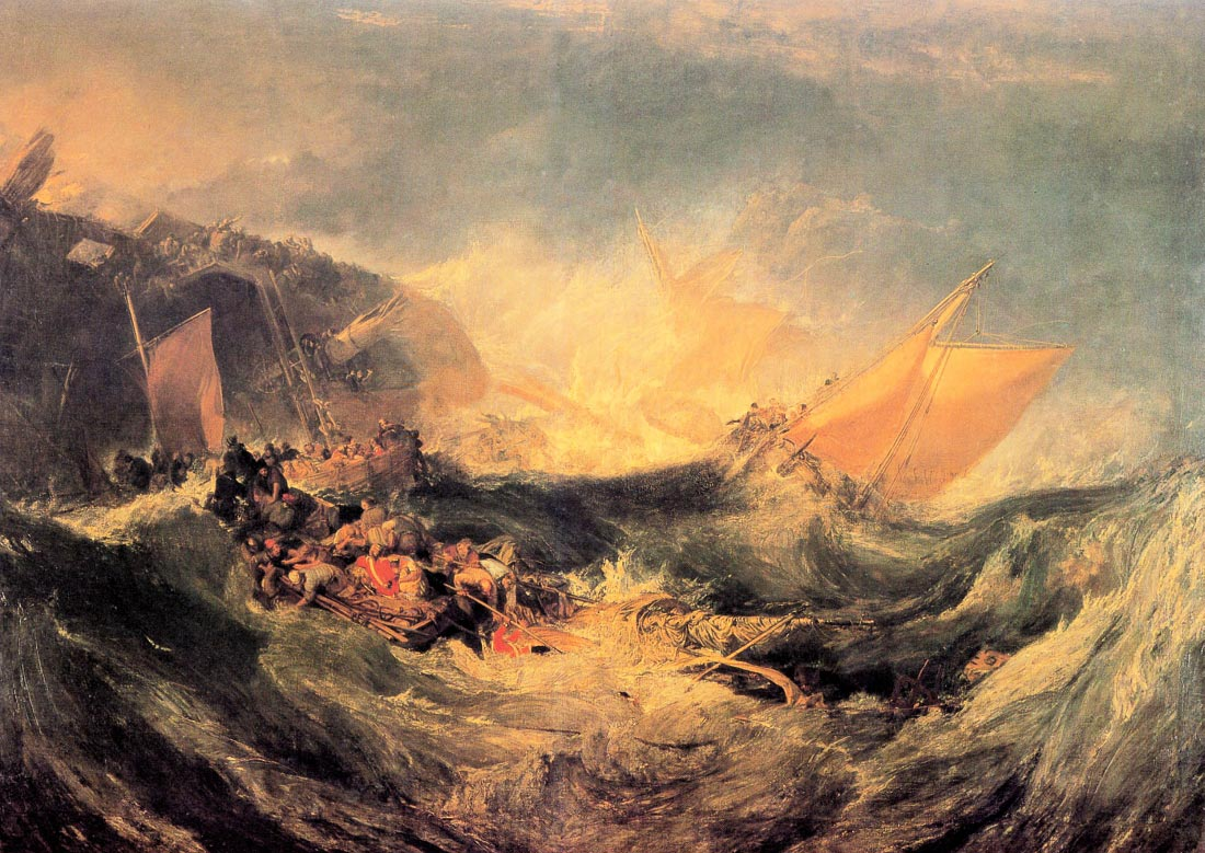 Wreck of a transport ship - Joseph Mallord Turner