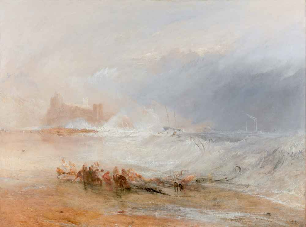 Wreckers - Coast of Northumberland, with a Steam-Boat Assisting a Ship