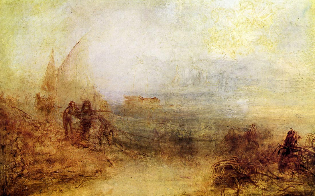 Wreckers on the coast - Joseph Mallord Turner