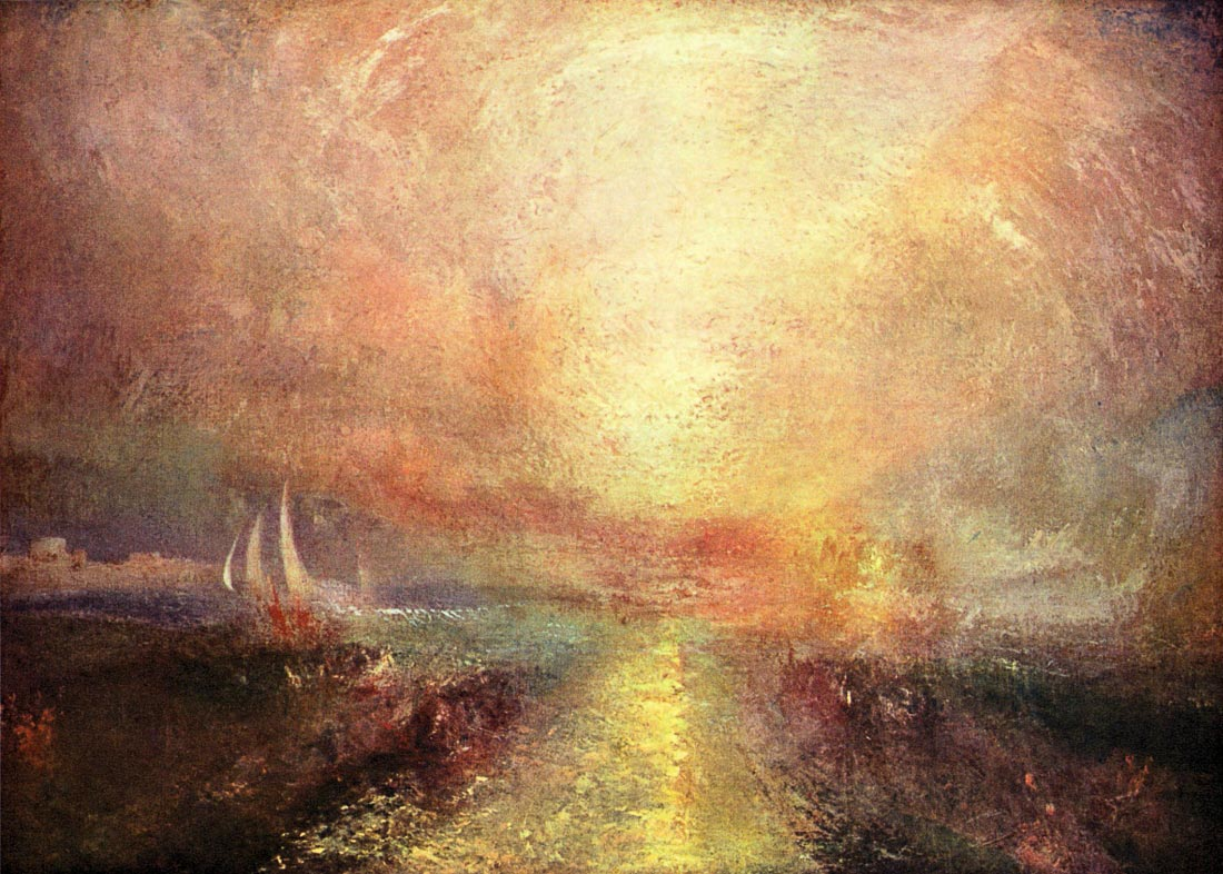 Yacht approaching the coast - Joseph Mallord Turner