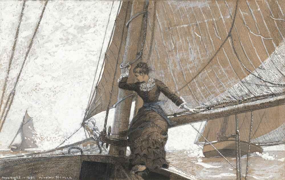 Yachting Girl - Winslow Homer