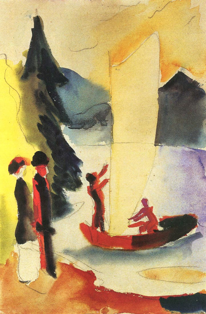 Yellow Sail - August Macke