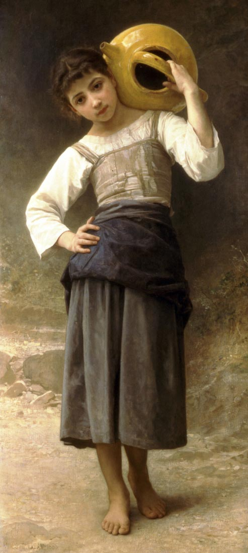Young Girl Going to the Spring - Bouguereau