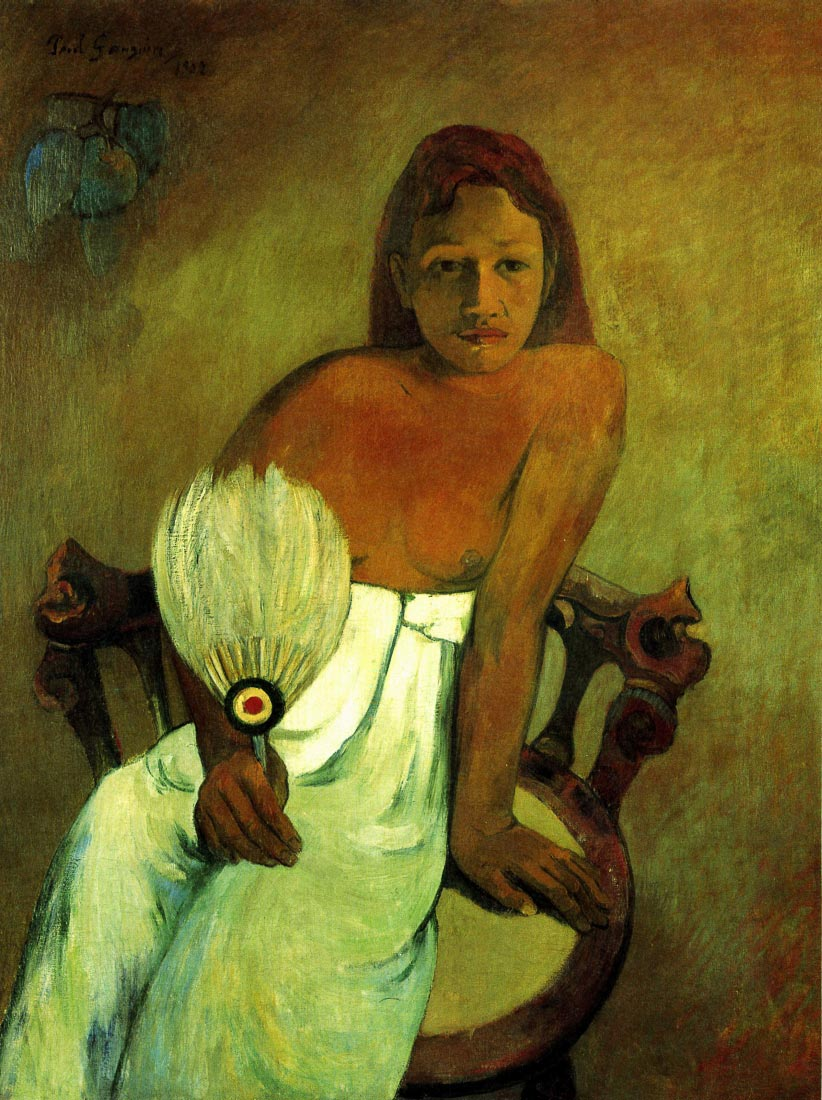 Young Girl with Fan - Gauguin
