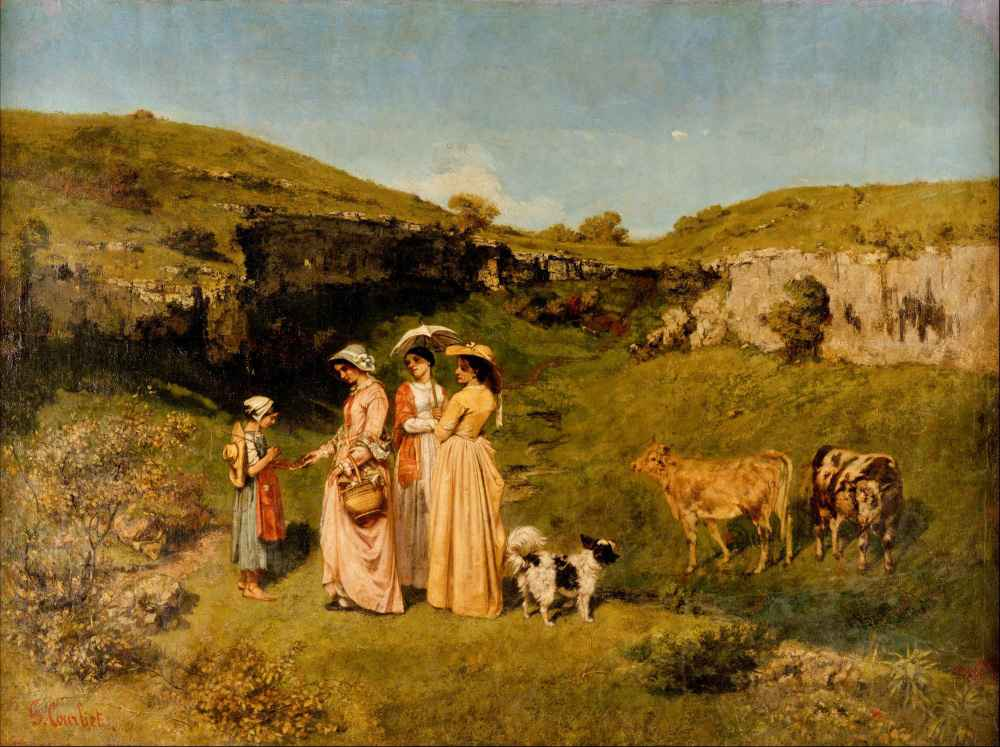Young Ladies of the Village - Gustave Courbet