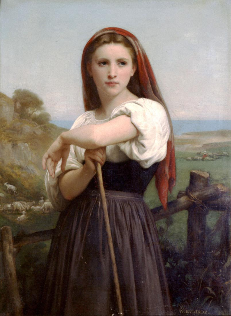 Young Shepherdess - Bouguereau