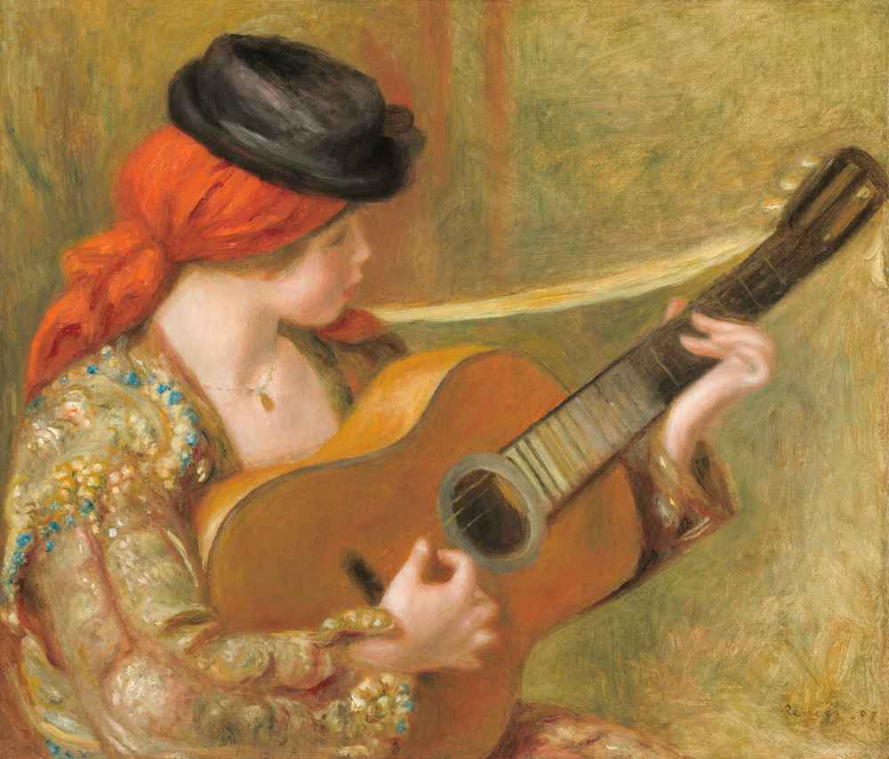 Young Spanish Woman with a Guitar - Auguste Renoir