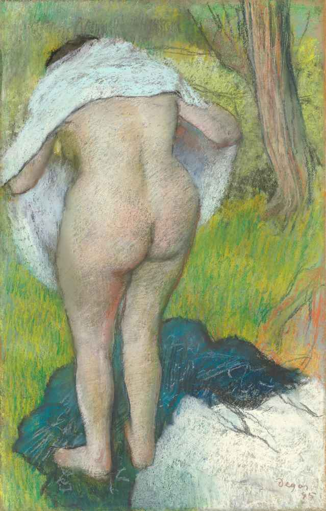Young Woman Dressing Herself - Edgar Degas