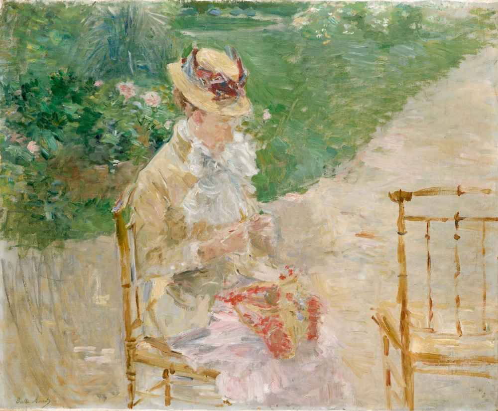 Young Woman Knitting - Berthe Morisot