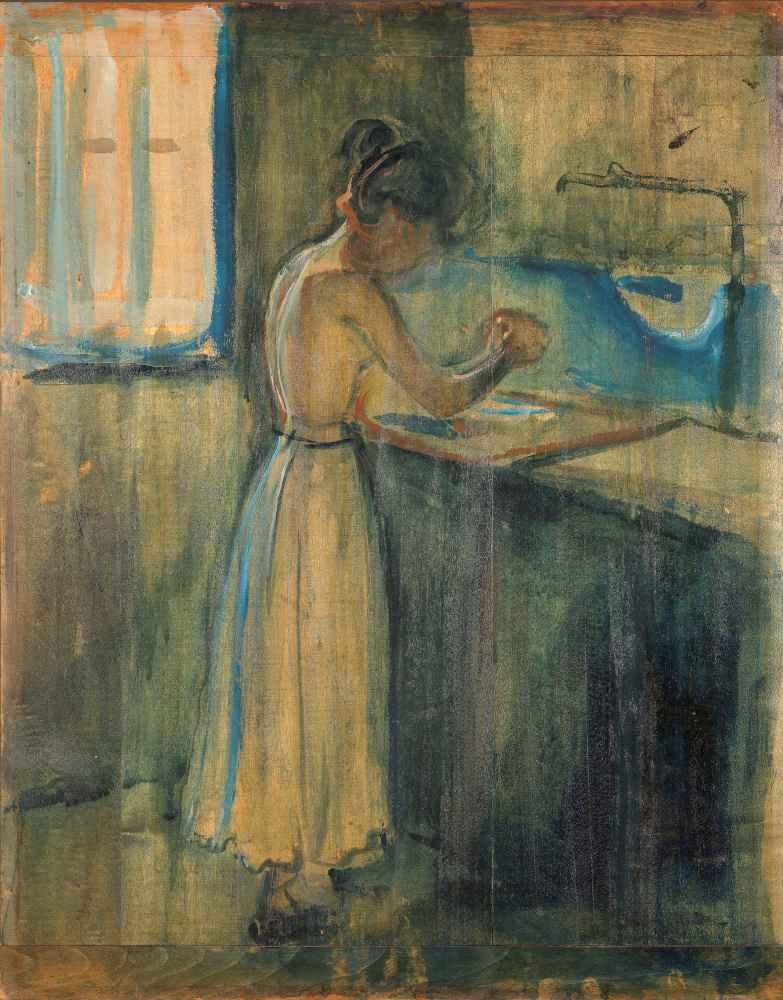 Young Woman Washing herself - Edward Munch