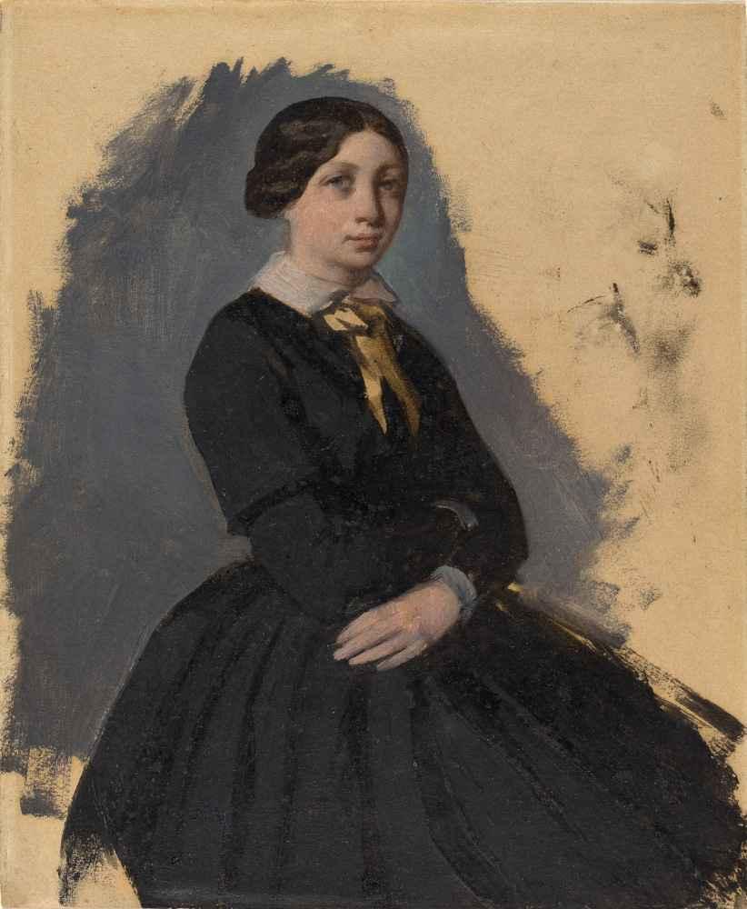 Young Woman in Black - Edgar Degas