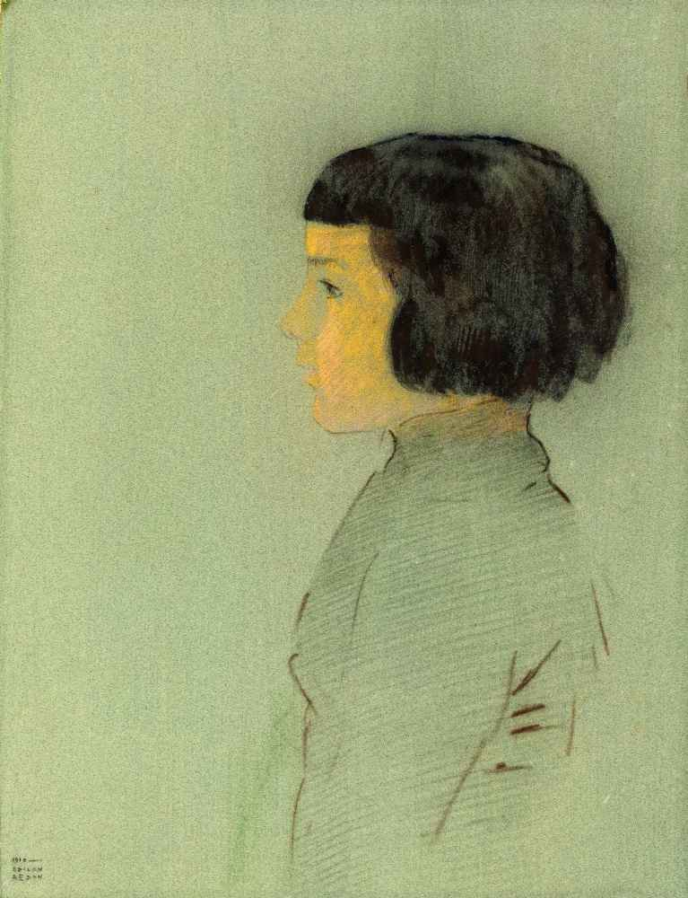Young Woman in Profile, 1910 - Odilon Redon