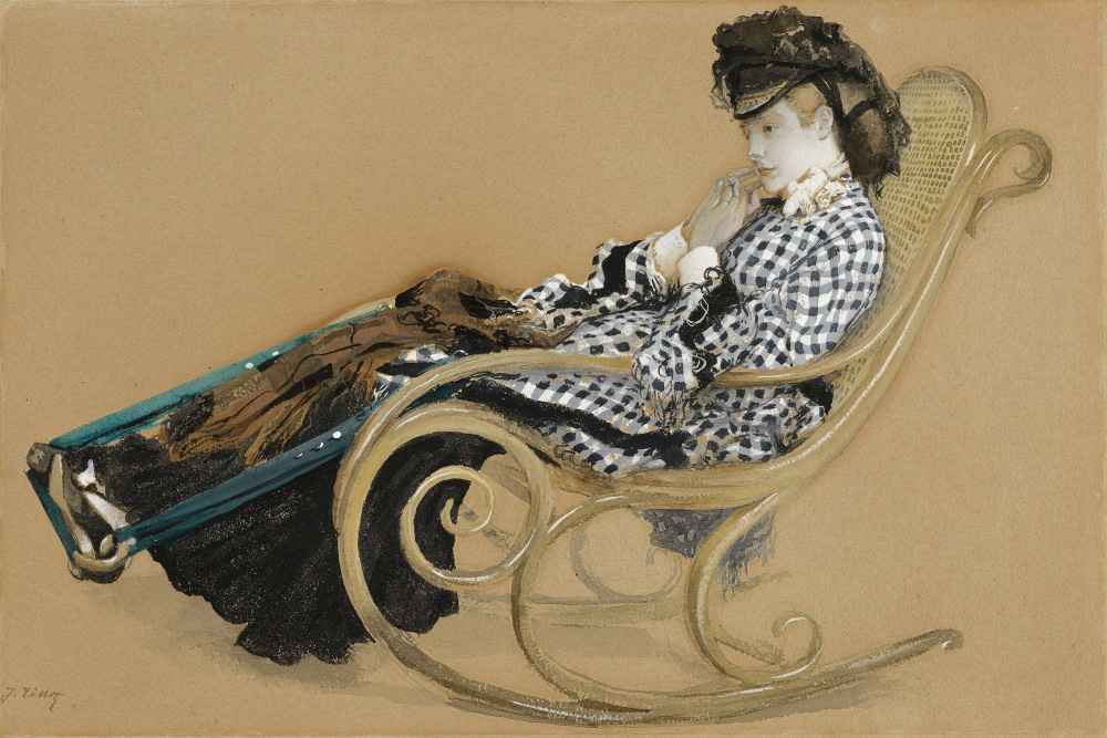 Young Woman in a Rocking Chair, study for the painting  The Last Eveni