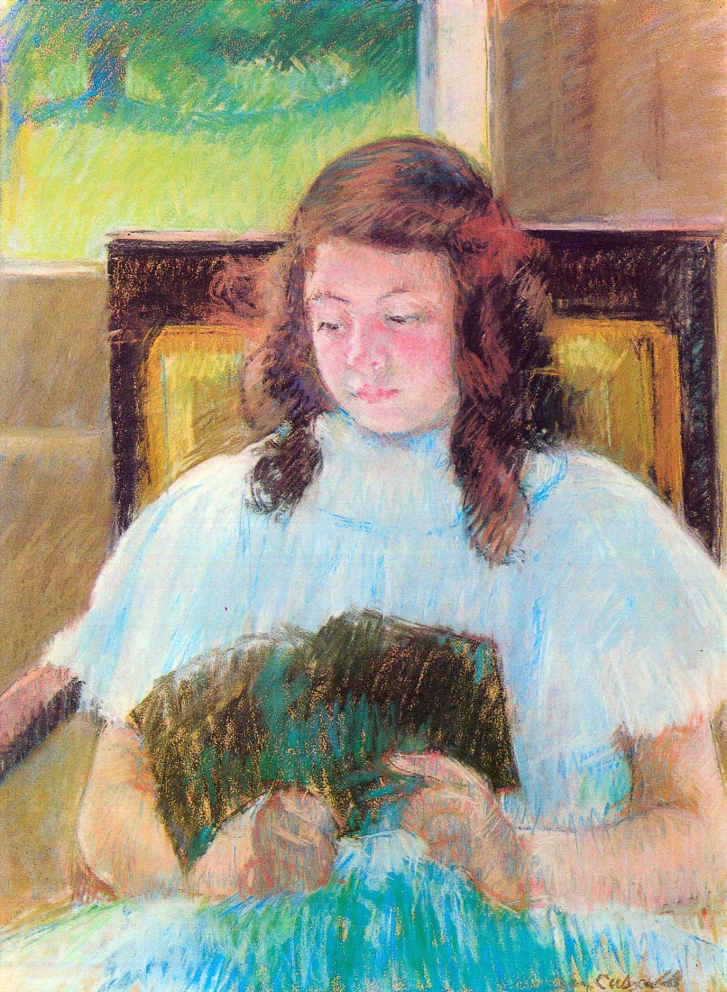 Young girl reading - Cassatt